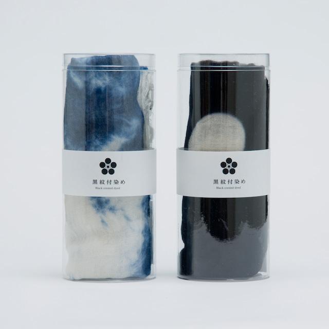 黒紋付染めストール 「知多木綿 200×45㎝」