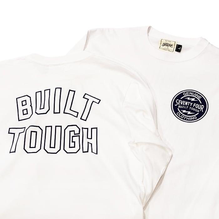 SEVENTY FOUR(セブンティーフォー) /  BUILT TOUGH T SHIRT L/S(WHITE)(STF21SS10)(ロングスリーブTシャツ)