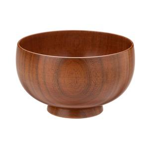 山中漆器 白鷺木工 汁椀 しらさぎ椀 S 約10cm さくら 漆茶  380215