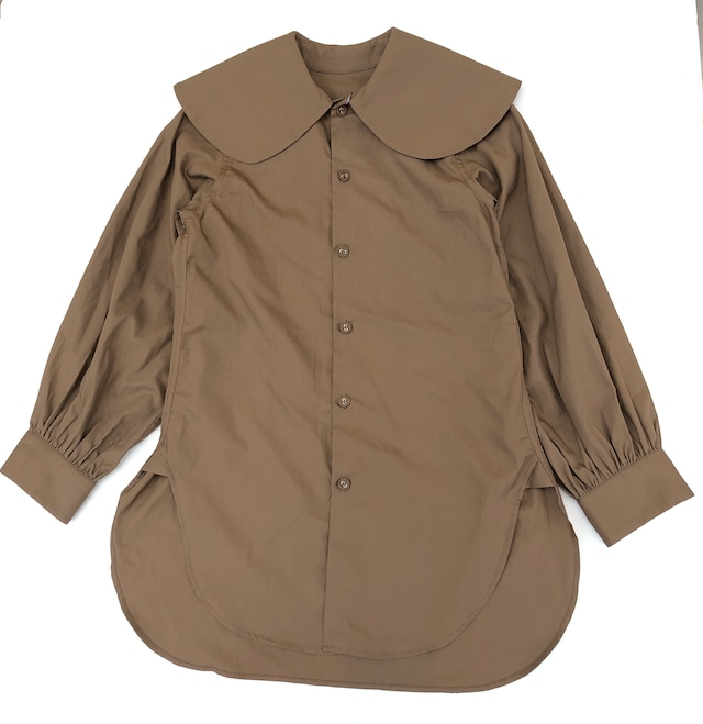 【21AW】GRIS ( グリ )Puritan Collar Shirt[XL]Umber シャツ