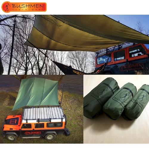 BUSHMEN ブッシュメン 4×4 THERMO-TRAP ハンモック 軽量 カラビナ パラシュート 耐水 レスキューシート タープ 自然派 キャンプ アウトドア