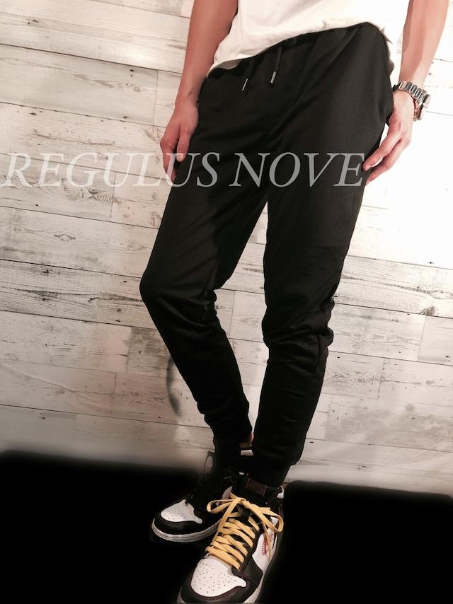 REGULUS NOVE ミニ裏毛ジョガーパンツ BLACK スウェット ルームウェア スポーツウェア 運動着 トレンド パンツ ボトム ジョガーパンツ