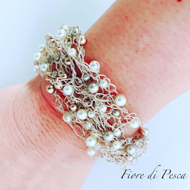 Croshet (gold × pearl) Bracelet