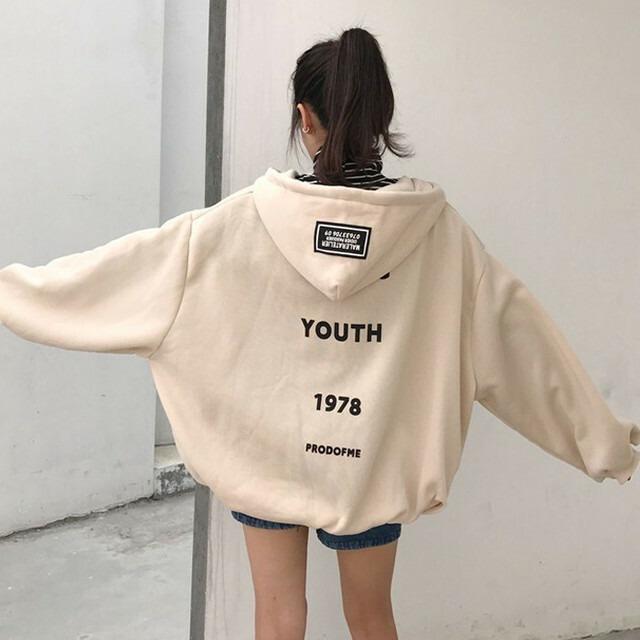 【アウター】BF風ファッション着き心地いいフード付きカーディガン25970273