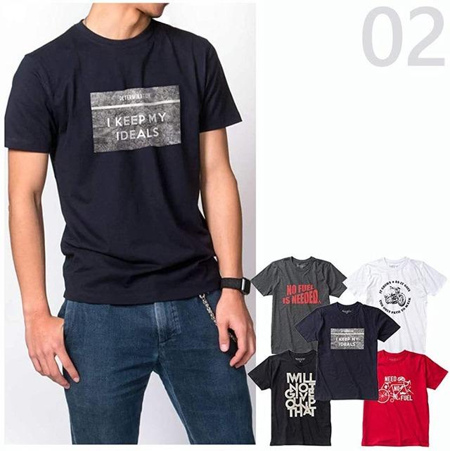 デイリー使いで毎日オシャレに「オーガニックプリント5枚組Tシャツ」 (02)