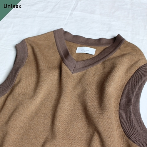ETRANGER per Orgueil ミラノリブベスト  Milano Rib Vest ET-9005 (Beige)