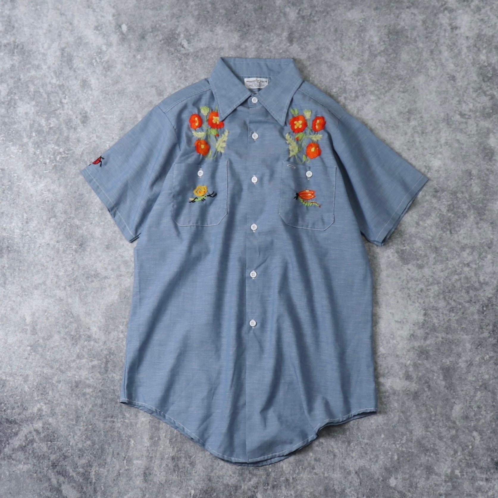1970s    S/S    Embroidery   Design    Shirts A414