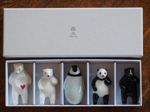 アソート箸置き5個set(+Panda)