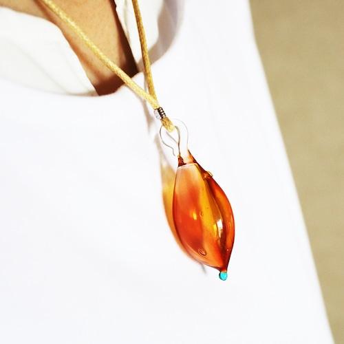 硝子のアロマペンダント<Red & Orange>★