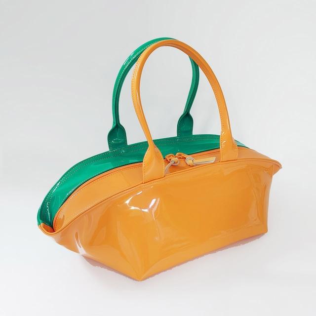 [ sugaya design lab エナメルバッグ ] ご予約 NH-WIDE エメグリ + オレンジ