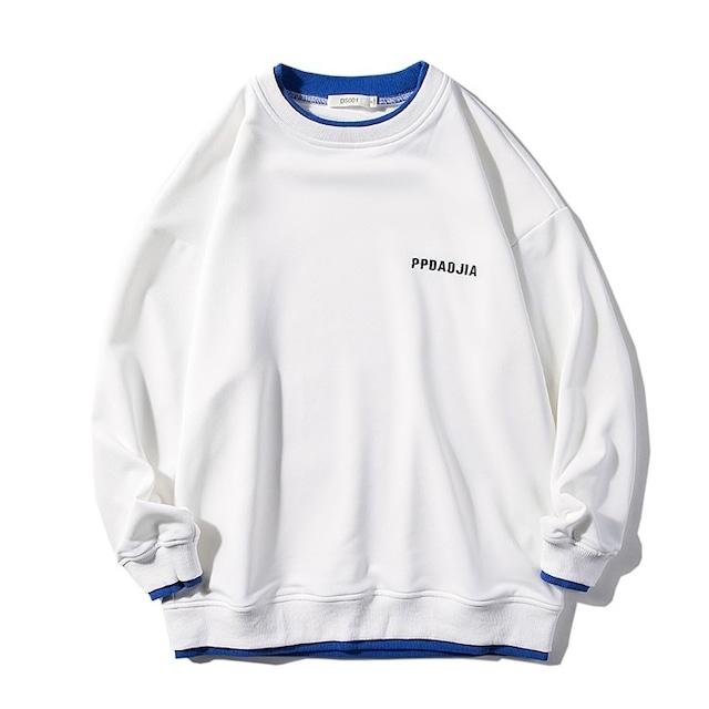 バイカラースウェットシャツ