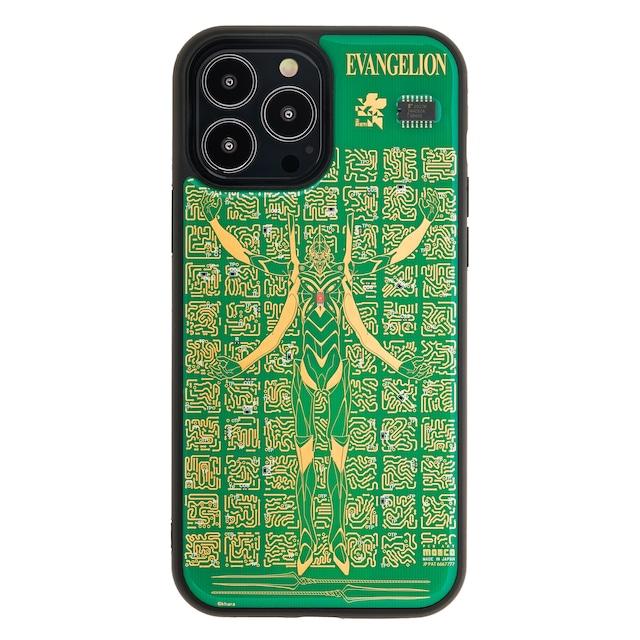 FLASH EVA13 基板アート iPhone 13 Pro Maxケース 緑【東京回路線図A5クリアファイルをプレゼント】