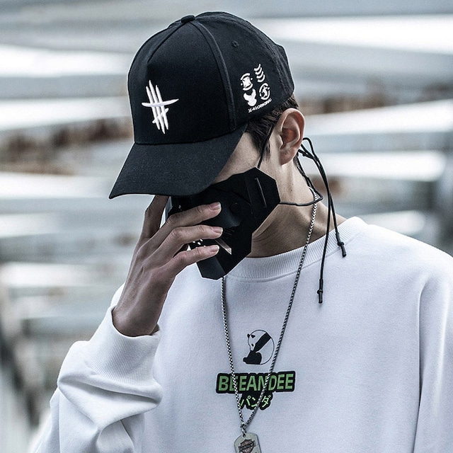 【AOGZシリーズ】★帽子★ 2color 黒or白 小物 男女兼用 カップル 刺繍 かっこいい 合わせやすい