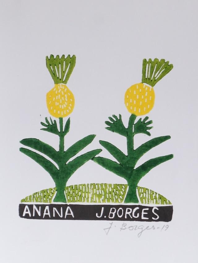 J.BORGES ジョタ・ボルジェス 木版画S 【ANAN?】