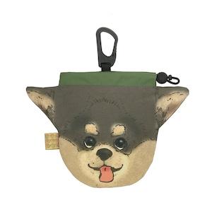 犬のウンチバッグ S【チワワ】(黒色) 防臭生地 / デオドラント加工布使用