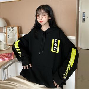 【トップス】韓国系ファッションbf長袖プリントパーカー42898341