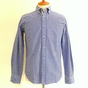 Gingham-Ox BD Shirts Blue Gingham