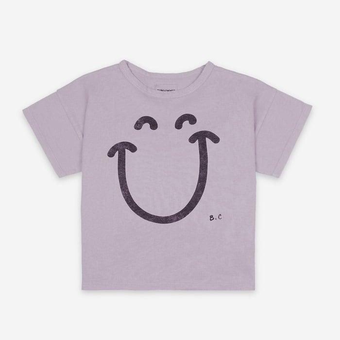 BOBOCHOSES Big Smile Lilas Short Sleeve T-Shirt