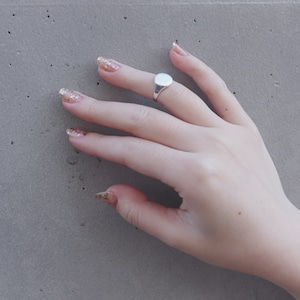 RING || 【予約商品】SMALL METAL PINKY RING SIZE L || 1 RING || SILVER || FDF139