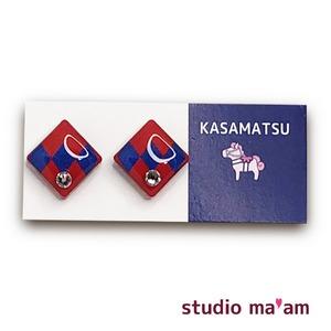 ■KASAMATSU-16 ピアス。しかく。〜イヤリング変更可〜
