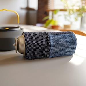 うしじま縫製 | 武州正藍染 CB缶(カセットボンベ缶)カバー 一重刺子  クレージーパターン
