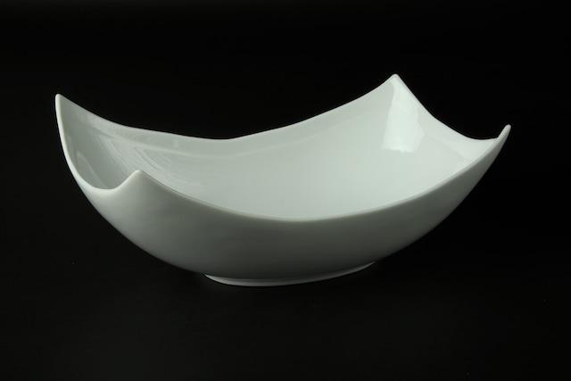 白磁長角盛鉢 有田焼
