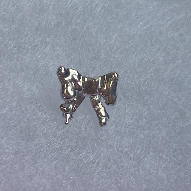 ribbone earring 片耳 silver925 #LJ21064P