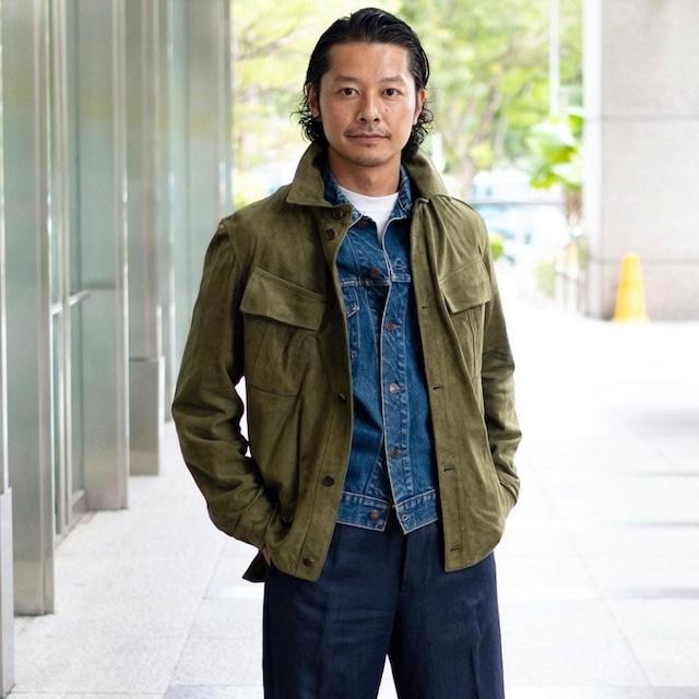 "Emmeti for COLONY CLOTHING Travel leather jacket ""NOLAN""(SALE)"