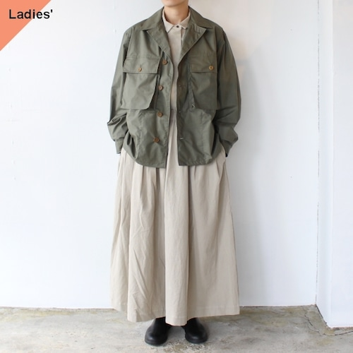 HAVERSACK コットンリネンウェザーシャツジャケット (Khaki)