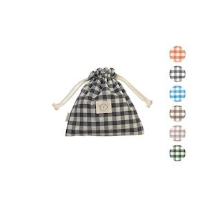 [haedal._.store] ヘダル チェック 巾着ポーチ Large(全6色)