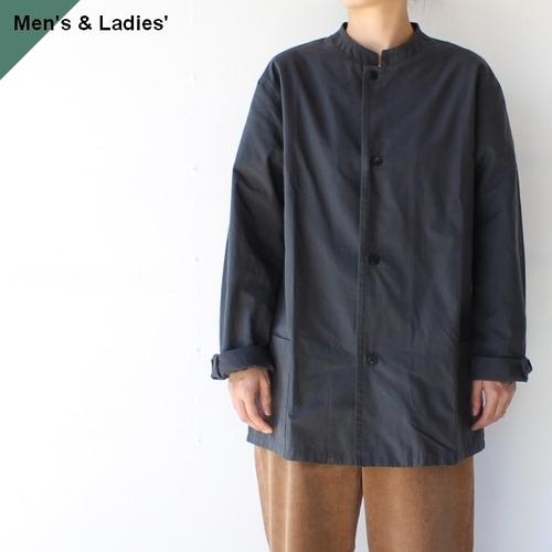 【ラスト1点(レディース)】THE HINOKI オーガニックコットンポプリンスタンドカラーシャツ TH21W-23 (SLATE GRAY)