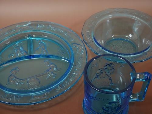 ガラスの食器セット アメリカンビンテージ