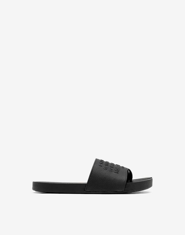 Maison Margiela Tabi slide sandal black