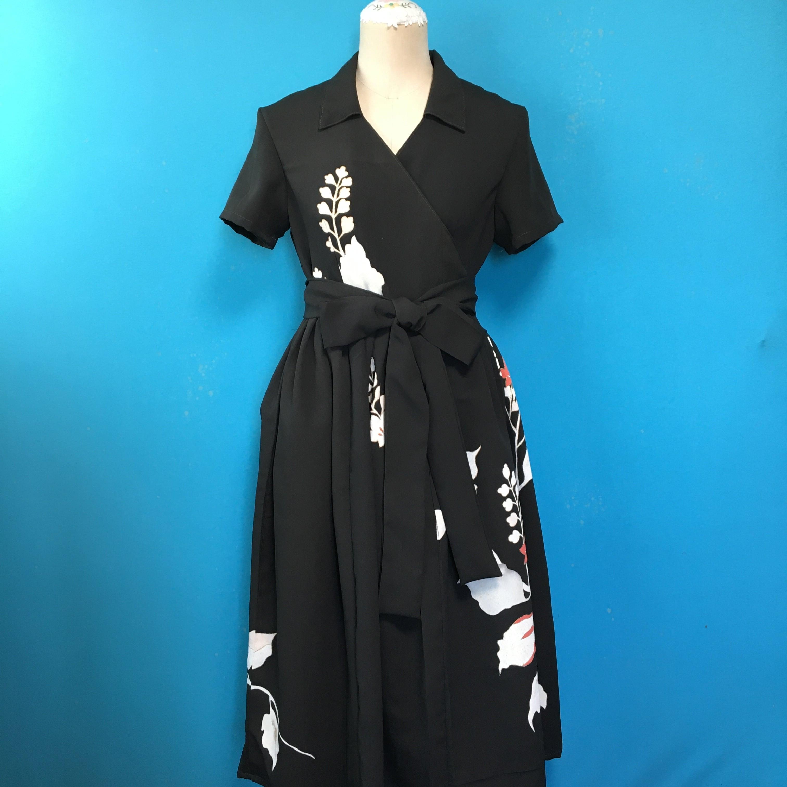 Vintage black dress US 8 訪問着