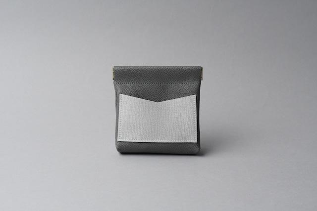 ワンタッチ・コインケース ■ダークグレー・ライトグレー■ - メイン画像