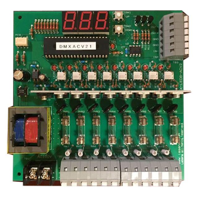 DMX対応 AC100v  8ch (イルミネーションストリング専用)基板
