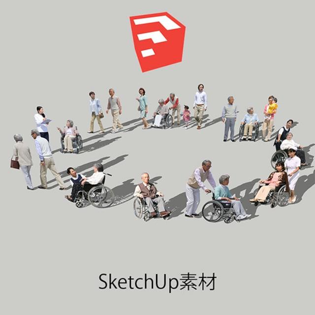 医療人物SketchUp素材10個 4p_set046 - メイン画像