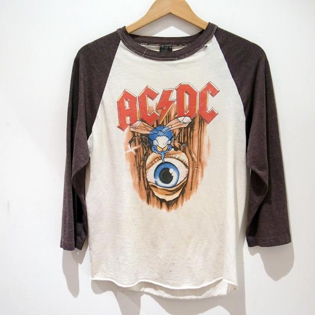 VINTAGE 1985's ACDC エーシーディーシー ROCK  Tee