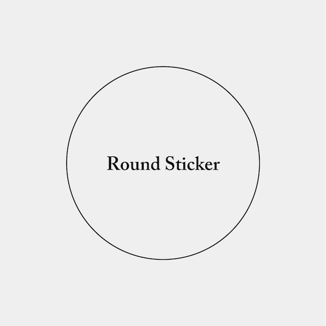 Round Sticker_円形ステッカー_50mm_300枚