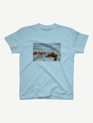 【悩み無用の開放ビーチ】Tシャツ(ライトブルー)