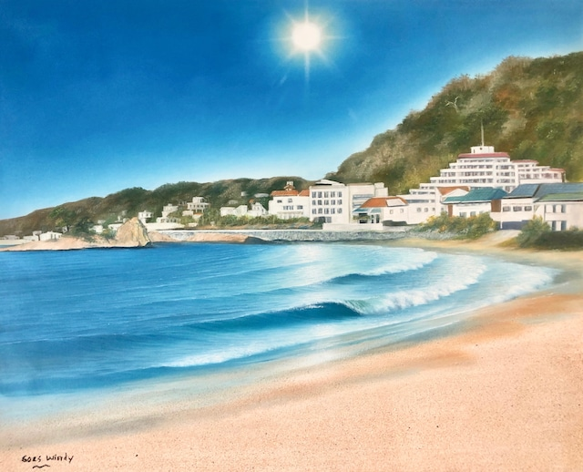 AKIYA Beach in Kanagawa Dreamland Wave Art F15 With Real Sand