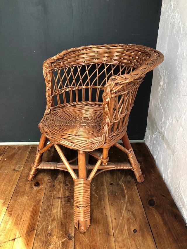 アンティークラタンチェア キッズ 子供椅子