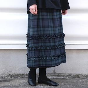 flannel asymmetry skirt