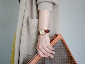 Cartier カルティエ マストタンク ヴェルメイユ クオーツ 革ベルト 腕時計 レディース
