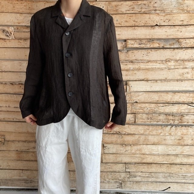 ICHI Antiquite's(イチアンティークス) ローブリネンジャケット ブラック