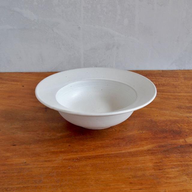 吉田健宗 | 白釉6寸リム鉢