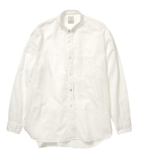 C/LI WING COLLAR SHIRT / 綿麻ウィングカラーシャツ (WHITE)