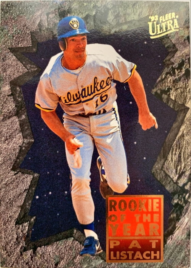 MLBカード 93FLEER Pat Listach ROOKIE OF THE YEAR #019 BREWERS