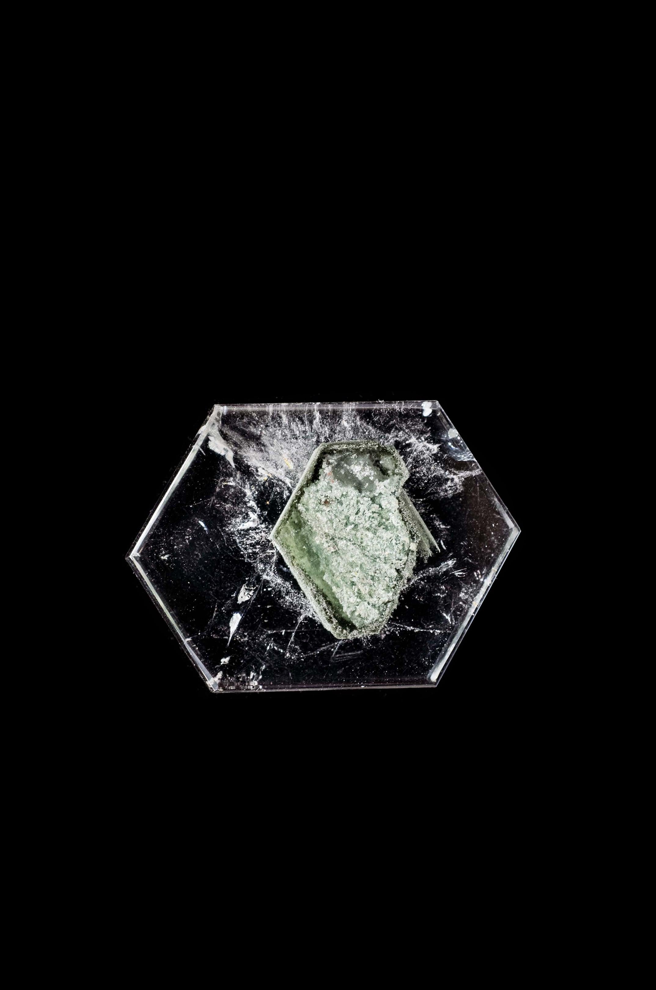 Chlorite in Hexagon Quartz - 001