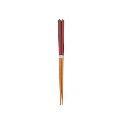 ダイヤカット箸(小)赤 【45-015】
